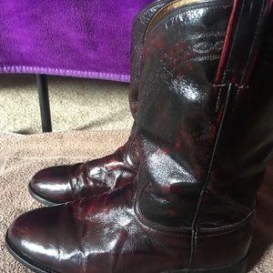 Dan Post Shoes - Dan Post Cherry Red Roper Boots